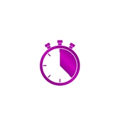 Stopwatch icon Flat design vector