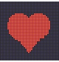 Stylized heart vector image vector image