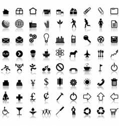 symbol reflections vector image