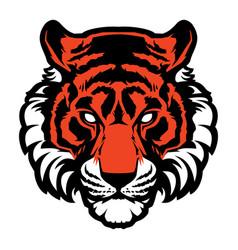 Tiger animal mascot head logo vector