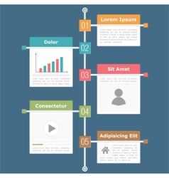 Timeline Infographics vector