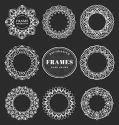 Unique hand drawn decorative frames vector image