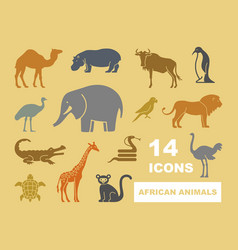 Wild animals of africa vector