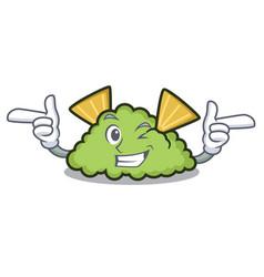 Wink guacamole character cartoon style vector