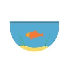 Aquarium and fish icon vector image