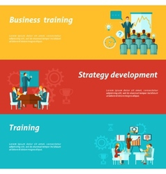 Business Training Banners vector image