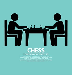 Chess Player Sign vector image