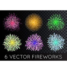 Fireworks Set with transparency vector image