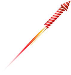 Flying fireworks rocket vector image