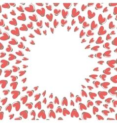 Heart Shape Frame vector image