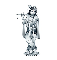 Lord Krishna vector image