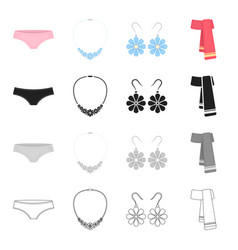 panties clothing accessories and jewelry vector image vector image