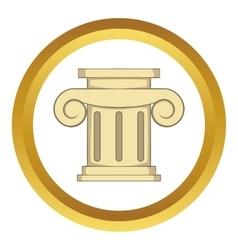 Roman column icon vector