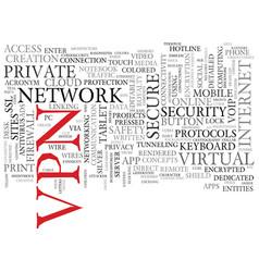 vpn word cloud concept vector image