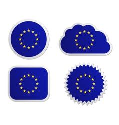 European Union flag labels vector image vector image