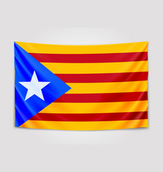 hanging flag of catalonia catalonia referendum vector image vector image