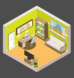 Living room isometric vector