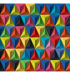 multicolor geometric pattern vector image vector image