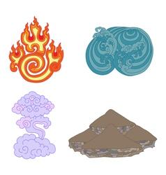 oriental symbols of elements vector image