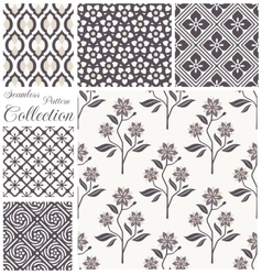 patterns collection Set of seamless floral vector image vector image