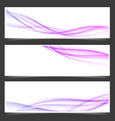 womanly swoosh lines abstract flyers set vector image vector image