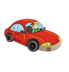 car driver vector image vector image