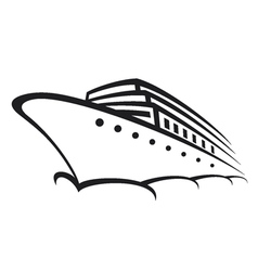Cruise ship - Ocean liner vector image vector image