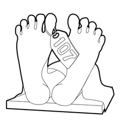 dead body icon outline style vector image vector image