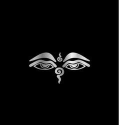 Eye of Buddha- Buddhism Symbol vector image