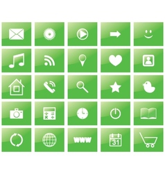 green eco set of icons vector image