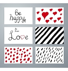 Set of design elements love Hand drawn vector image