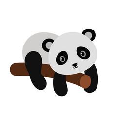 Adorable panda in flat style vector
