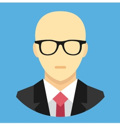 Bald Man in Business Suit Icon vector image vector image