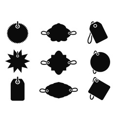 black tag icons vector image vector image