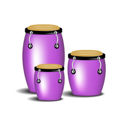 congas band in purple design with shadow vector image
