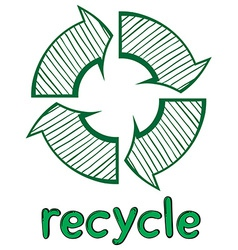 A recycle symbol vector image