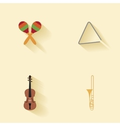 Abstract music instruments vector image