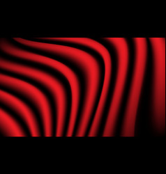 abstract red fabric wave curve background luxury vector image