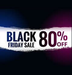 abstract torn paper style black friday sale vector image