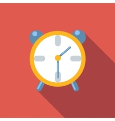 Alarm clock flat icon vector