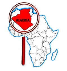 Algeria under the magnifying glass vector