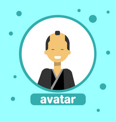 asian man avatar icon japanese male in traditional vector image