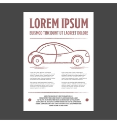 Auto repair leaflet or flyer vector