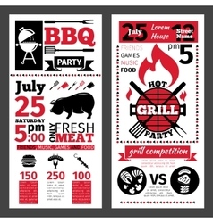 barbecue invitation vector image