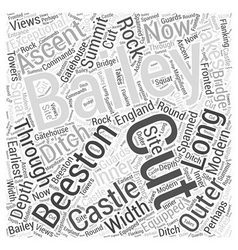 Beeston Castle Word Cloud Concept vector