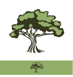 Big oak tree vector