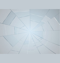 Broken mirror glass debris vector