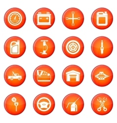 Car maintenance and repair icons set vector