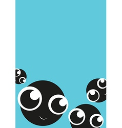 Card with cute monsters vector