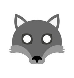 Cartoon mask of wolf for halloween vector